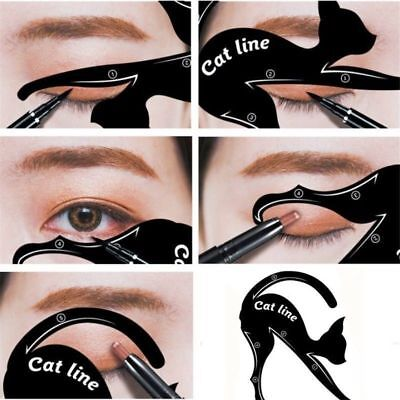 1 Pair Eyeliner Stencil Models Cat Eye Line Template Shaper Makeup Tools Set -