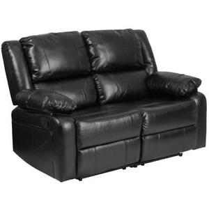 Flash Furniture Harmony Leather Reclining Loveseat in Black - BRAND NEW - FREE SHIPPING