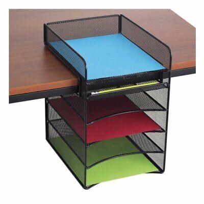 Scranton & Co Horizontal Hanging Desk Organizer in Black Horizontal Desk Organizer