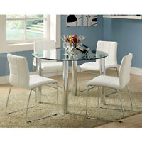 Contemporary Tempered ROUND or RECTANGULAR GLASS TOP Dining