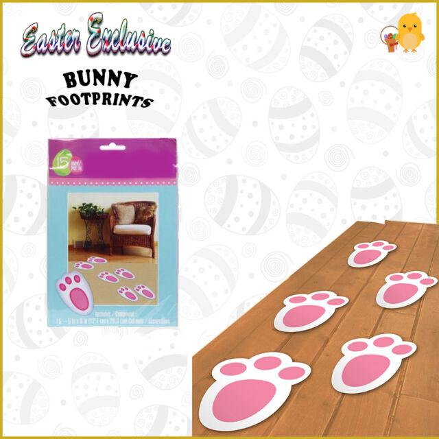 Easter Egg Decorations Hunt 15 Pk Bunny Footprints Kids Toy Indoor/Outdoor Quest