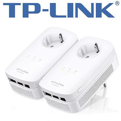 TP-LINK AV1200TL-PA8030P 3-PortGigabitPass throughPowerlineStarter Kit GigE