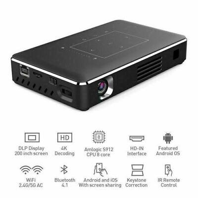 2020 Mini 5000 Lumens Android Wifi HD 1080P DLP Home Cinema 4K Projector HDMI TF
