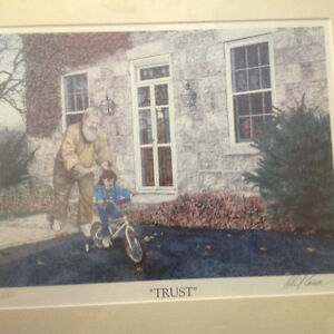2 Albert casson prints , family and trust limited signed 40 doll Kitchener / Waterloo Kitchener Area image 4