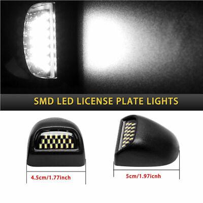 For 99-14 Chevrolet GMC Pickup Trucks 18LED License Plate Rear Light Housing