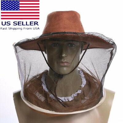 Beekeeping Beekeeper Cowboy Hat Bee Net Veil Face Head Protector