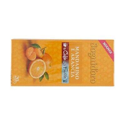 120 filtri SOGNI D'ORO MANDARINO e ARANCIA a Caldo e Freddo Tisana infuso the tè