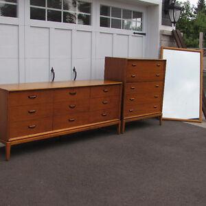 Mobilier set  chambre commode en bois teck scandinave vintage 2