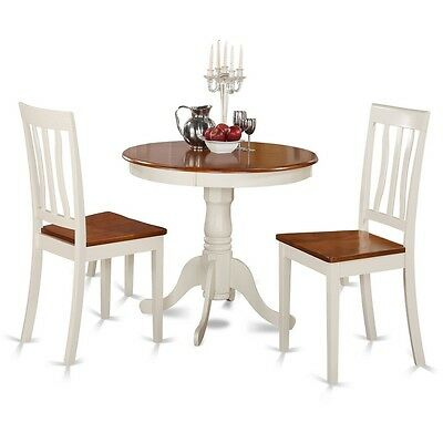 3 Piece Kitchen Nook Dining Set-Kitchen Table And 2 Chairs For Dining Room NEW ()