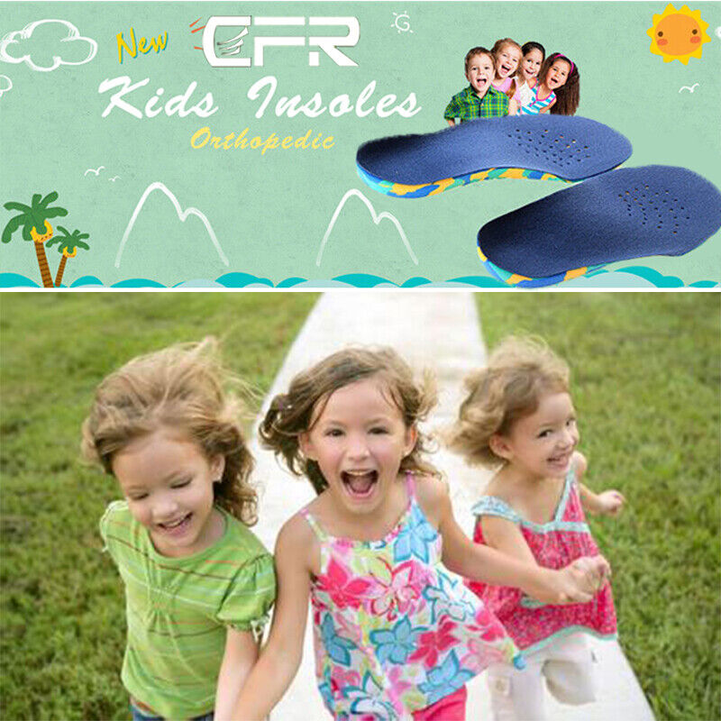 Kids Orthotic Support Shoe Insoles Cushioning Fasciitis Pads
