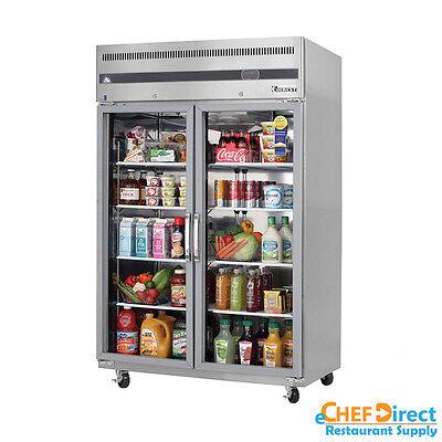 Everest Esgr2 49 Double Glass Door Reach-in Refrigerator
