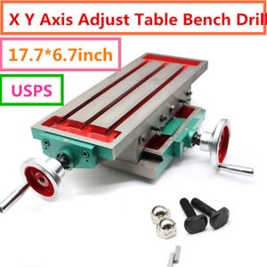 Milling Machine Fixture worktable X Y axis Adjustment table Bench drill Vise USA