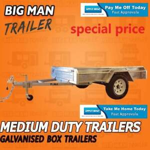 8x5 NO CAGE  BRAKED Trailer with Side Galvanised ColourSilver