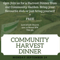 COMMUNITY HARVEST DINNER AND RECYCLE PRESENTATION