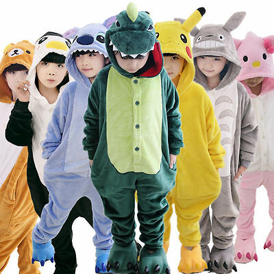Kids Pajamas Pikachu Kigurumi Unisex Cosplay Animal Costume Game Sleepwear New - Kids Pikachu Costume