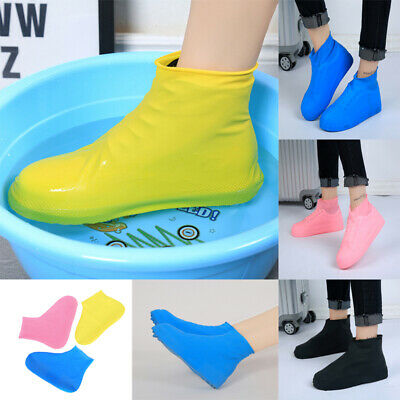 Anti-slip Reusable Latex Shoe Covers Waterproof Rain Boot Overshoes-Shoes (Latex Boot Covers)