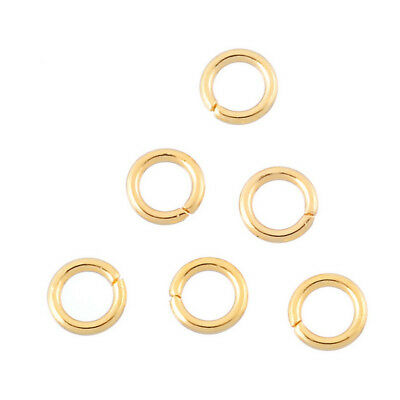 Jump Rings Stainless Steel Gold Plated Rings Jewelry Making Supplies Chainmail ](Chainmail Supplies)
