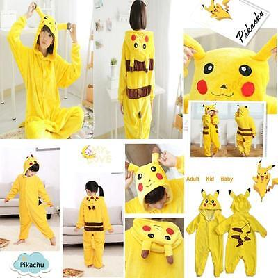 Pokemon Costumes Kids (Pokemon Unisex Adult Kids Baby Pajamas Kigurumi Cosplay Costume Animal)