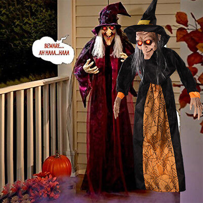 Halloween Hanging Animated Voice Control Witch Creepy Party Decoration Prop US (Halloween Witch Party)