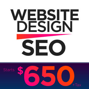 Website Design with SEO - Free 1 Year Warranty Included!