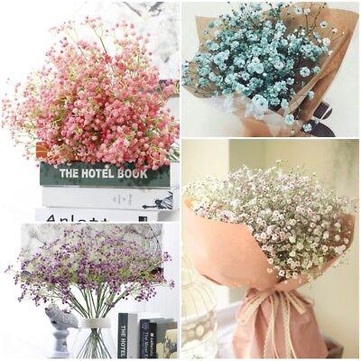 Artificial Fake Babys Breath Gypsophila Silk Flowers Bouquet Home Garden Decor
