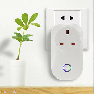 S20 Sonoff  WIFI Smart Power Socket Wireless Remote Control Timer UK Plug dk46
