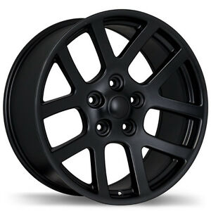 "22"" Wheel Challenger Charger Chrysler 300 SRT SRT10 Black Rim 22"