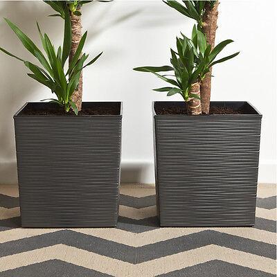 2er set blumentopf nicht rattan neue struktur 30x30x57cm 5. Black Bedroom Furniture Sets. Home Design Ideas