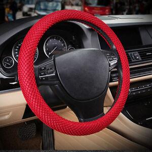 red no smell 38cm 15 summer 3d sandwich eva rubber car steering wheel cover ebay. Black Bedroom Furniture Sets. Home Design Ideas