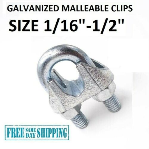 Galvanized Cable Clamps U-Bolts U-Clamps Steel Cable Wire Clips U Bolts