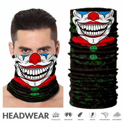 Joker Skull Motorcycle Cycling Neck Scarf Half Face Mask Bandana Ski Headband](Joker Ski Mask)