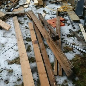 Rough cut lumber from 100 years old house