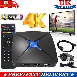 Smart Android 6.0 TV Box Quad Core 2.0Ghz 4K 3D Media Player 1080P Movie 2017 UK