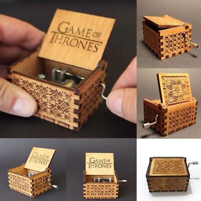 Game Of Thrones Engraved Wooden Music Box Interesting Kid Toys Xmas Gifts Us