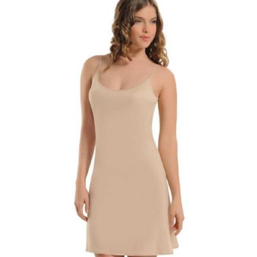 Damen Unterkleid Unterrock mit Verstellbaren Spaghetti Trägern Mini Nachtkleid