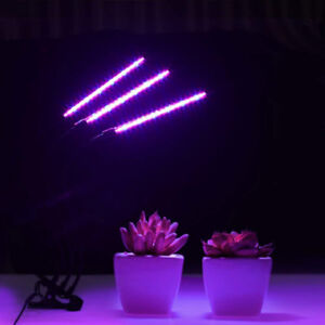 LED Grow Light, 27W Plant 3 Head 57 LEDs Lamp with Timer