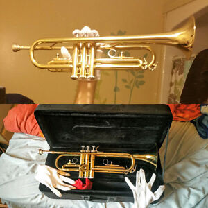 Trumpet With Mouthpiece, Case - Like New