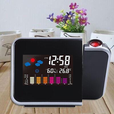 Projektionsuhr LED Zeit Intelligente Wecker Temperatur Feuchtigkeit