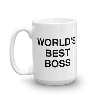 World's Best Boss The Office Coffee Mug Office Work Gift Tea Mug Ceramic (World's Best Boss Gifts)