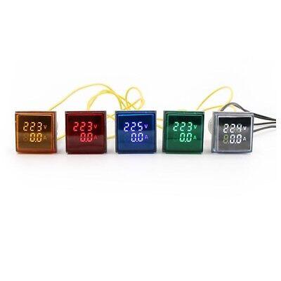 5pcs Digital Voltmeter Ammetertester Meter Dual Led Indicator Pilot Lamp Light