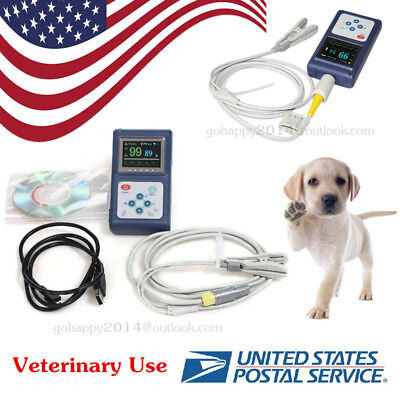 Usa Cms60d Vet Veterinary Pulse Oximeter Spo2 Pr Monitor Vet Probepc Software
