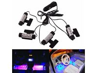 4x Car Charge Interior Accessories Floor Decorative Atmosphere Lamp Light 3 LED