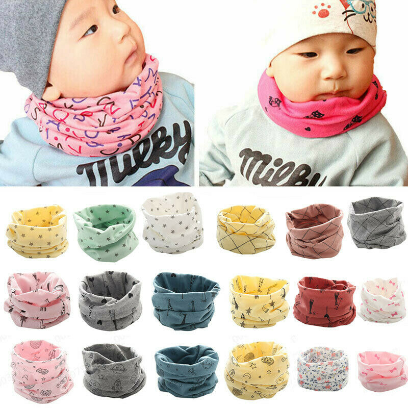 Fashion Autumn Winter Boys Girls Baby Cute Scarf Cotton O Ring Neck Scarves