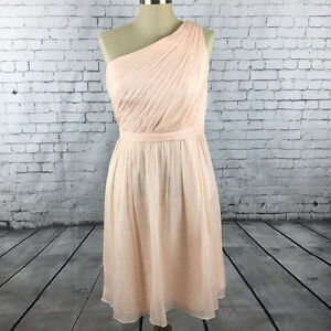 J Crew Silk Chiffon Kylie Dress 6 Soft Peach