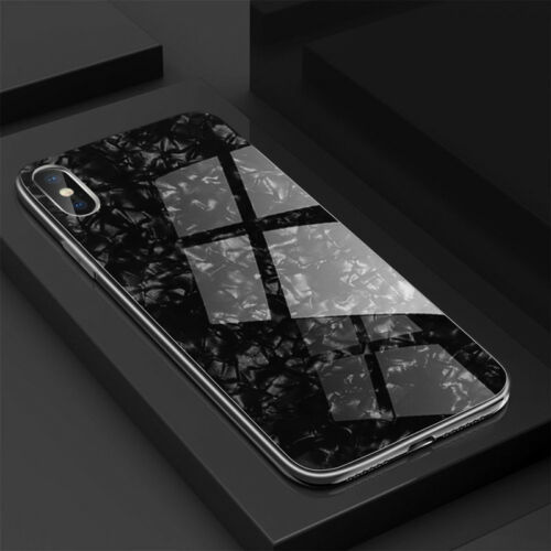 For IPhone X XS MAX XR 8 7 Plus Luxury Shockproof Glass Ultrathin Hybrid PC Case