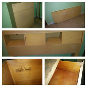 VIRTUAL SALE /MID CENTURY BEDROOM FURNITURE FOR REFINISHING