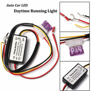 DRL LED Daytime Running Light Automatic On/Off Switch Controller wire Module Box