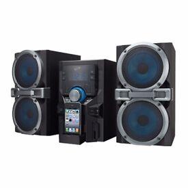 iLive IHP610B iPod/iPhone Dock CD Player Home Stereo Compact midi hifi
