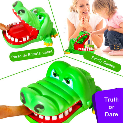Large Crocodile Dentist Mouth Bite Finger Game Funny Kids Toy With Keychain HI