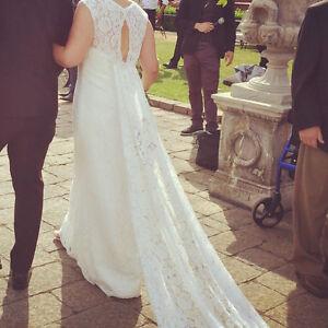 Belle robe de mariée style vintage
